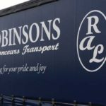 Robinsons auto logistics branded lorry