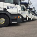 robinsons vehicles lined up on their site
