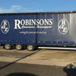 robinsons auto logistics branded vehicle