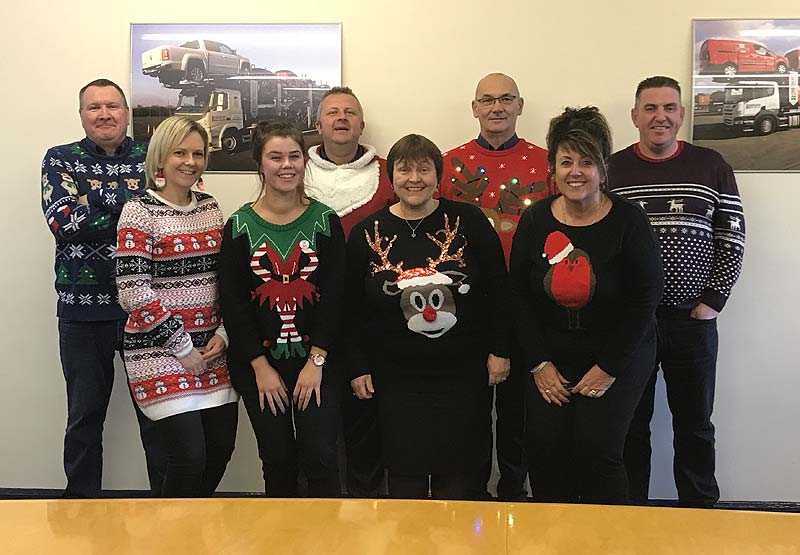 The Robinsons Team on National Christmas Jumper Day